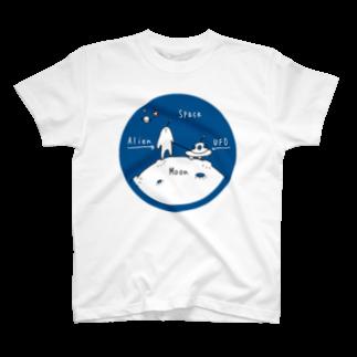 Aki Miyoshiの宇宙の説明書  青 T-shirts