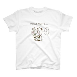 パンダinぱんだ(むしゃむしゃ) T-shirts