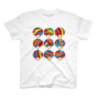 カラフルな?かぶりもの? T-shirts