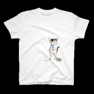 もけけ工房 SUZURI店のびわちゃんのオモチャ T-shirts