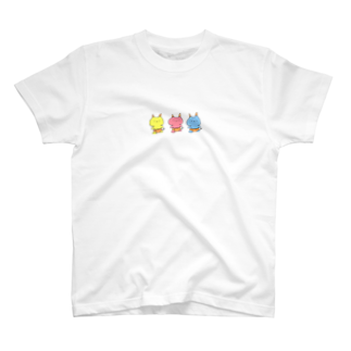 stu115のなかよし3人おにさん T-shirts