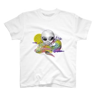 宇宙人×虹龍 T-shirts