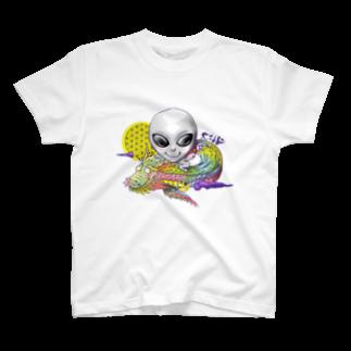 都市伝説屋cilF✴︎シルフの宇宙人×虹龍 T-shirts