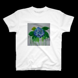 ✈オノウエ コウキの紫陽花の涙 T-shirts