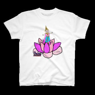 uwotomoの【THAILAND】蓮と踊り子 T-shirts