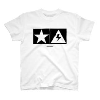 Thunder and Star 白 T-shirts