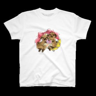 アトリエねぎやまのくまたんとこぐまちゃん T-shirts