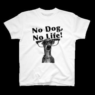 イロハのNo dog,No life! 黒 T-shirts
