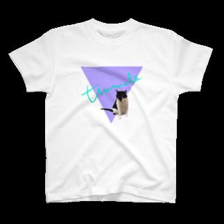 保護猫活動家すみパンさん家への支援グッズ!のNo.17 夢かわバットにゃん♪ T-shirts