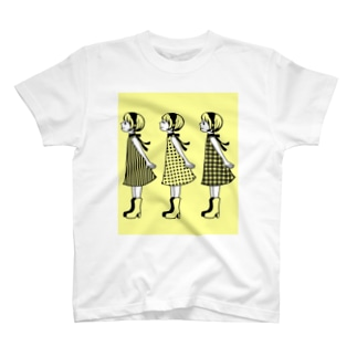 レトロガールズ レモンイエロー T-shirts
