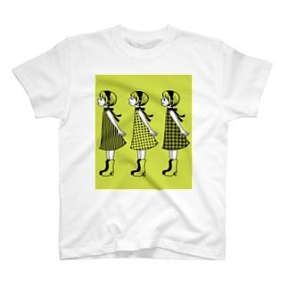 レトロガールズ ピスタチオ T-shirts