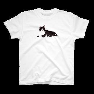 ヒラノマキコの2017.06月ねこ T-shirts