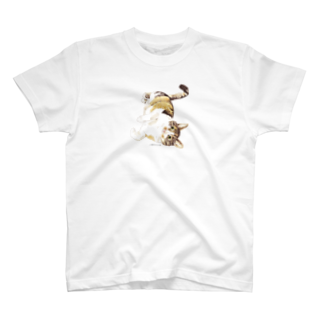 ヒラノマキコの2017.11月ねこ T-shirts