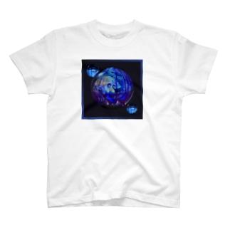 青いビー玉 T-shirts