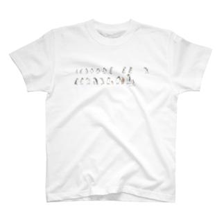ひとふで動物-ペンギン T-shirts