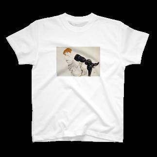Art Baseのエゴン・シーレ / 1913 / Woman in Black Stockings / Egon Schiele T-shirts