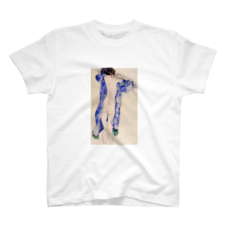 Art Baseのエゴン・シーレ / 1913 / Standing Female Nude in a Blue Robe / Egon Schiele T-shirts