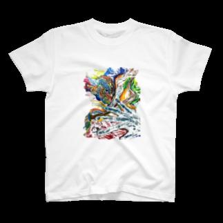 色鉛筆 Life Timeのエネルギー T-shirts