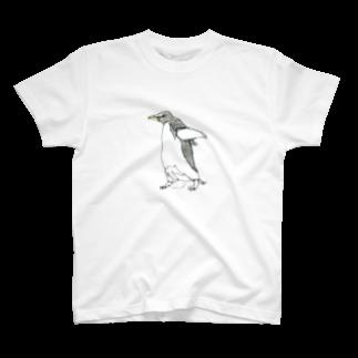 empitsukunのひとふで動物-アデリーペンギン T-shirts
