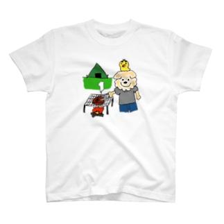 はるやんとぴよまるのBBQ T-shirts