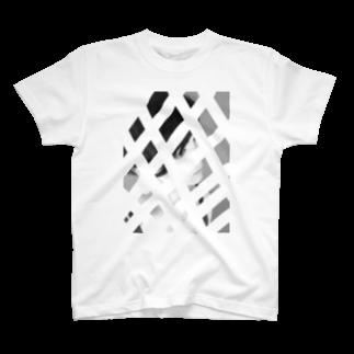 johnny's martの格子隙間レディ T-shirts