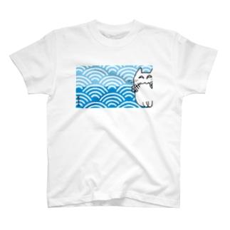 夢見る猫 青海波(せいがいは) T-shirts