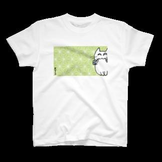 KTSの夢見る猫 麻の葉文様 T-shirts