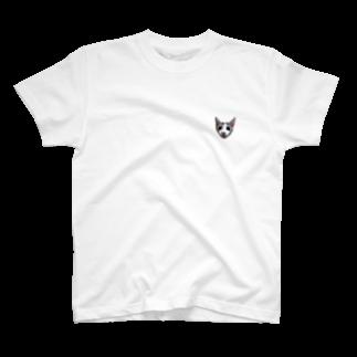 きぬしょっぷの顔だけきぬ T-shirts