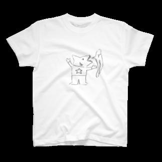 """めむとのア""""〜〜〜〜〜〜なサメくん T-shirts"""