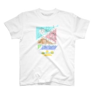 紙ペラにゃんこ(たくさん) T-Shirt