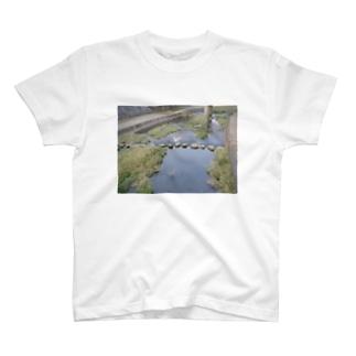 板櫃川と白い鳥 T-shirts