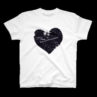 Naughty clown .のblack love. T-shirts