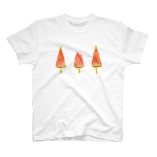 真夏のスイカバー T-shirts