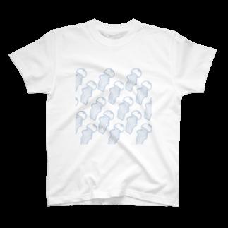 甘津 さえ(Amatsu Sae)のクラゲの群れクン T-shirts