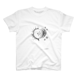 morinishiの太陽と月café T-shirts