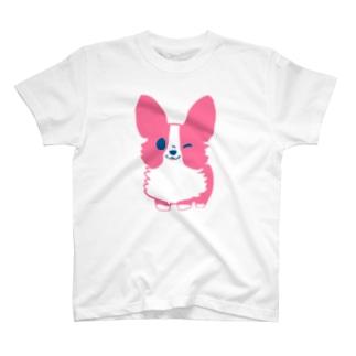 ピンクコーギー  T-shirts