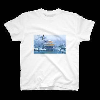 石川 佳宗の雪の金閣寺 T-shirts