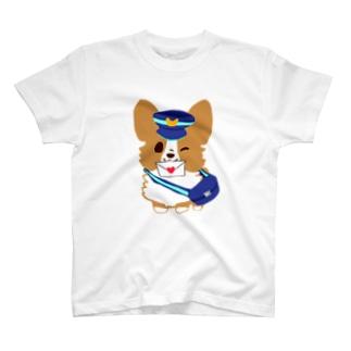 配達コーギー  T-shirts