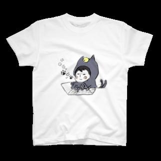 ほっかむねこ屋の少年.png T-shirts