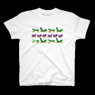 jaguchi4mのお盆(ラッシュ) T-shirts
