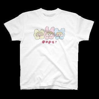 HOSHINOMAAのCotton Animals! Oops! T-shirts