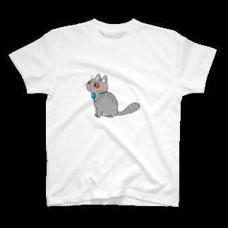 figのおすわりねこたろ T-shirts