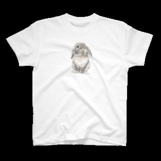 ヒラノマキコの2015.03月うさぎ T-shirts