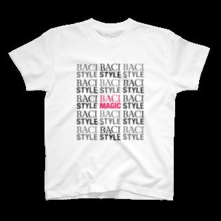 BACI  fashionのbaci_モノグラムTシャツ T-shirts