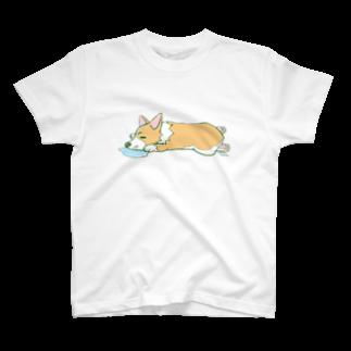 こぎまろの熟睡まろ_Tシャツ T-shirts