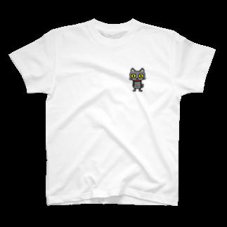るなもなのドット黒猫 T-shirts