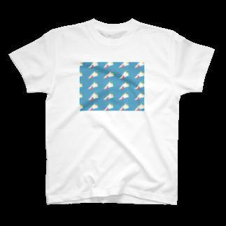 LATEのkarage crêpe T-shirts