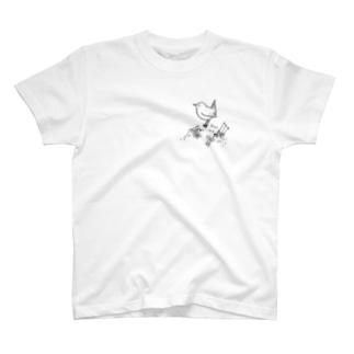 野鳥 ミソサザイ T-shirts