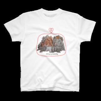 おむすび丸🍙ともちゃ子👼のママ子のomu&mocha T-shirts