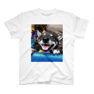 hilokiのShiba In The Pool  T-shirts